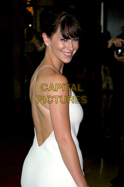 JENNIFER LOVE HEWITT.Women In Film presents Fusion, The 2005 Crystal and Lucy Awards An Evening Celebrating Partnership held at the Beverly Hilton, Beverly Hills, CA, USA, .10th June 2005..half length  white cream dress back behind looking over shoulder.Ref: ADM.www.capitalpictures.com.sales@capitalpictures.com.©Jacqui Wong/AdMedia/Capital Pictures.