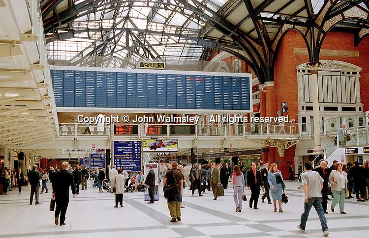 Liverpool Street train station, London.