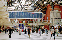 Liverpool Street train station, London.