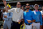 ELMONT, NY - JUNE 09: Fans watch a race on Belmont Stakes Day at Belmont Park on June 9, 2018 in Elmont, New York. (Photo by Scott Serio/Eclipse Sportswire/Getty Images)