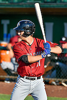 David Edwards (21) of the Idaho Falls Chukars at bat against the Ogden Raptors in Pioneer League action at Lindquist Field on June 28, 2016 in Ogden, Utah. The Raptors defeated the Chukars 12-11. (Stephen Smith/Four Seam Images)