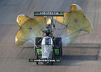 Feb 25, 2017; Chandler, AZ, USA; NHRA top fuel driver Brittany Force during qualifying for the Arizona Nationals at Wild Horse Pass Motorsports Park. Mandatory Credit: Mark J. Rebilas-USA TODAY Sports