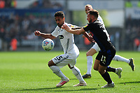Wayne Routledge of Swansea City in action during the Sky Bet Championship match between Swansea City and Rotherham United at the Liberty Stadium in Swansea, Wales, UK.  Friday 19 April 2019