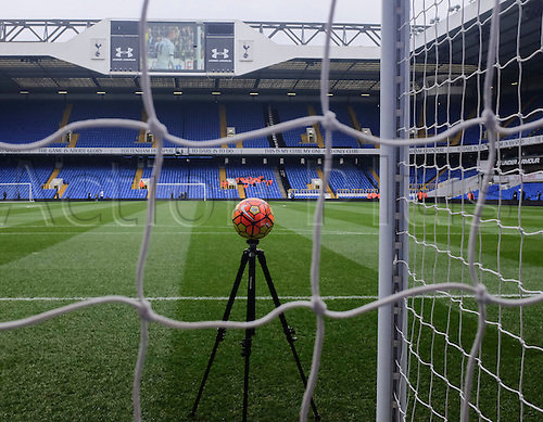 05.03.2016. White Hart Lane, London, England. Barclays Premier League. Tottenham Hotspur versus Arsenal. General view from behind the goal as the technology is tested before the game.