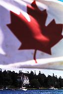 Nova Scotia, Canada, 1967. The National Canadian Flag.