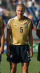 14 July 2007: United States' Lindsay Tarpley. The United States Women's National Team defeated their counterparts from Norway 1-0 at Rentschler Stadium in East Hartford, Connecticut in a women's international friendly soccer game.