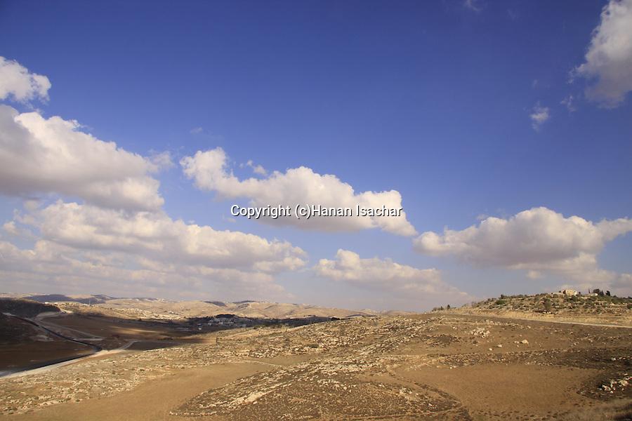 Israel, Shephelah, a view north from Tel Beit Mirsim