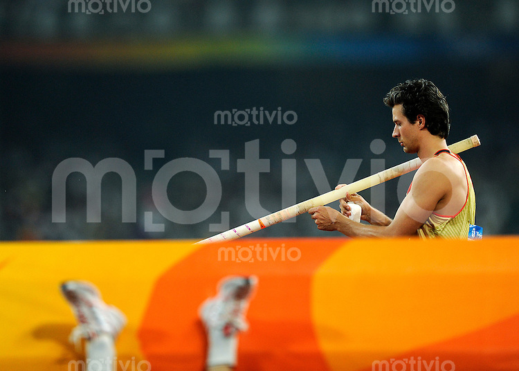 Olympia 2008  Peking   20.08.2008 Leichtathletik Stabhochsprung Danny ECKER (GER).