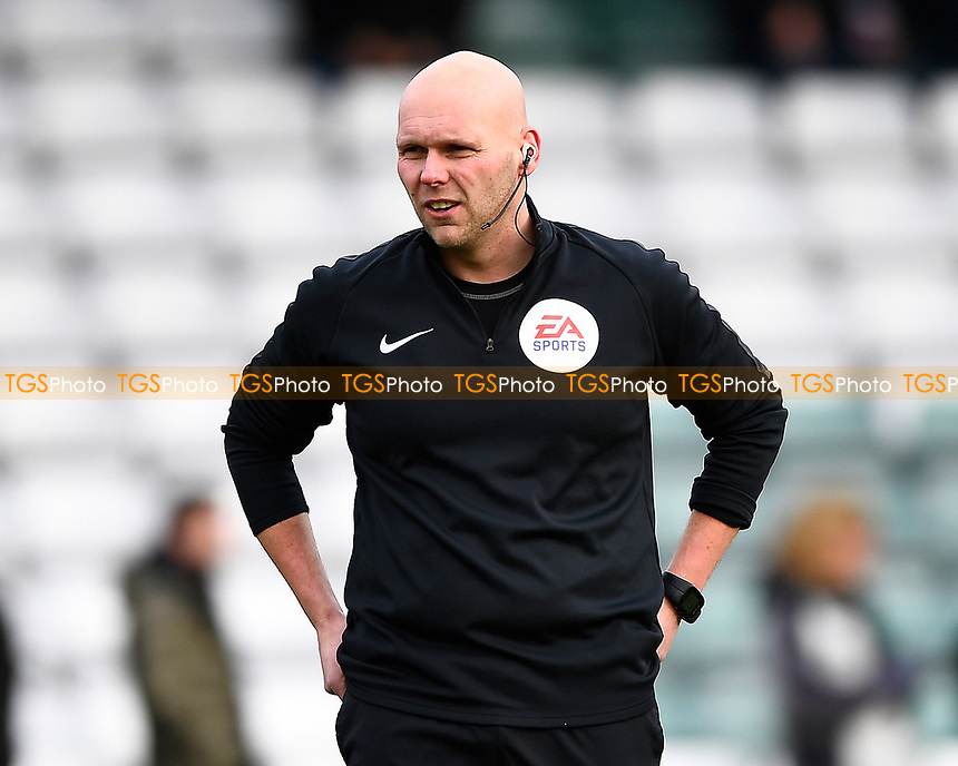 Referee Charles Breakspear during Yeovil Town vs Grimsby Town, Sky Bet EFL League 2 Football at Huish Park on 9th February 2019