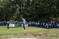 Justin Rose (ENG) in action on the 12th hole during the final round of the 76 Open D'Italia, Olgiata Golf Club, Rome, Rome, Italy. 13/10/19.<br /> Picture Stefano Di Maria / Golffile.ie<br /> <br /> All photo usage must carry mandatory copyright credit (© Golffile | Stefano Di Maria)