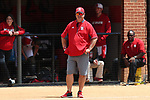 RALEIGH, NC - MAY 07: NC State head coach Shawn Rychcik. The North Carolina State University Wolfpack hosted the University of Louisville Cardinals on May 7, 2017, at Dail Softball Stadium in Raleigh, NC in a Division I College Softball game. Louisville won the game 7-0.