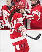 Rebecca Russo (BU - 18) - The Harvard University Crimson defeated the visiting Boston University Terriers 3-1 on Friday, November 22, 2013, at Bright-Landry Hockey Center in Cambridge, Massachusetts.