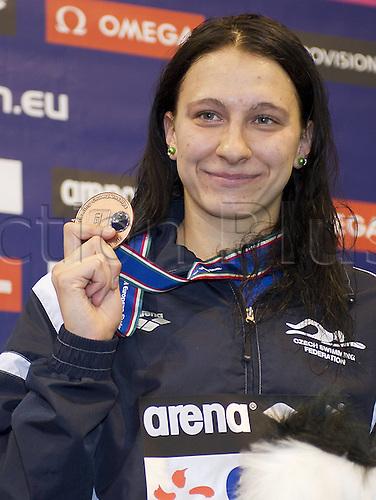 21.05.2012.  Debrecen Hungary. Barbora CZE Bronze Medal 400 Individual Medley Women European Swimming Championships 2012