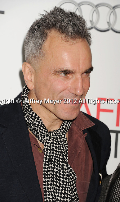 HOLLYWOOD, CA - NOVEMBER 08: Daniel Day-Lewis arrives at the 'Lincoln' premiere during the 2012 AFI FEST at Grauman's Chinese Theatre on November 8, 2012 in Hollywood, California.
