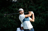 Dustin Johnson (USA) tees off on the 18th hole during the first round of the 100th PGA Championship at Bellerive Country Club, St. Louis, Missouri, USA. 8/9/2018.<br /> Picture: Golffile.ie | Brian Spurlock<br /> <br /> All photo usage must carry mandatory copyright credit (© Golffile | Brian Spurlock)