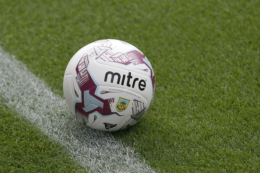 The official Mitre match ball<br /> <br /> Photographer Stephen White/CameraSport<br /> <br /> Football - The Football League Sky Bet Championship - Burnley v Sheffield Wednesday - Saturday 12th September 2015 -  Turf Moor - Burnley<br /> <br /> &copy; CameraSport - 43 Linden Ave. Countesthorpe. Leicester. England. LE8 5PG - Tel: +44 (0) 116 277 4147 - admin@camerasport.com - www.camerasport.com