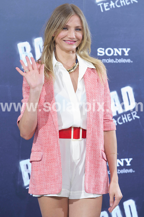 **ALL ROUND PICTURES FROM SOLARPIX.COM**                                             **WORLDWIDE SYNDICATION RIGHTS EXCEPT SPAIN - NO SYNDICATION IN SPAIN**                                                                                  Caption: Cameron Diaz attends the photocall for Bad Teacher, at the Villamagna Hotel, Madrid, Spain. 13 June 2011                                                                             This pic: Cameron Diaz                                                                                             JOB REF: 13558 DMS Jextu      DATE: 13_06_2011                                                           **MUST CREDIT SOLARPIX.COM OR DOUBLE FEE WILL BE CHARGED**                                                                      **MUST AGREE FEE BEFORE ONLINE USAGE**                               **CALL US ON: +34 952 811 768 or LOW RATE FROM UK 0844 617 7637**