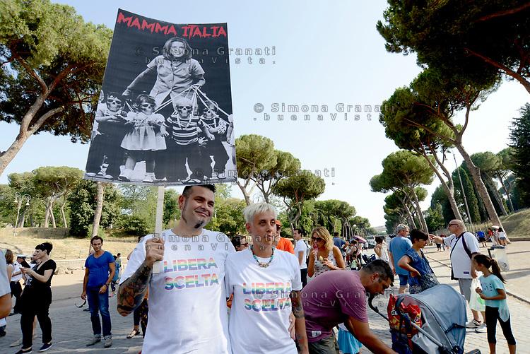 Roma, 22 Luglio 2017<br /> Cartelli contro la Ministra Beatrice Lorenzin.<br /> Corteo contro l'obbligo dei vaccini, per la libert&agrave; di scelta