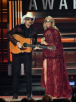 08 November 2017 - Nashville, Tennessee - Brad Paisley, Carrie Underwood.51st Annual CMA Awards, Country Music's Biggest Night, held at Bridgestone Arena. <br /> CAP/ADM/LF<br /> &copy;LF/ADM/Capital Pictures