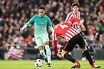 Neymar da Silva Santos Junior (l) of FC Barcelona in action during their Copa del Rey Round of 16 first leg match between Athletic Club and FC Barcelona at San Mames Stadium on 05 January 2017 in Bilbao, Spain. Photo by Victor Fraile / Power Sport Images