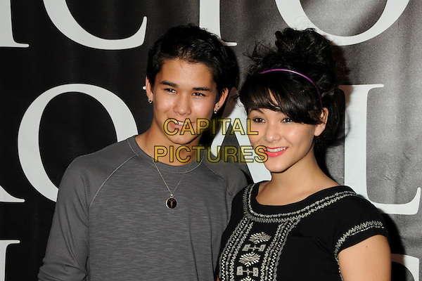 "BOOBOO STEWART & FIVEL STEWART .""Hatchet II"" Los Angeles Premiere held at Grauman's Egyptian Theatre, Hollywood, California, USA, .28th September 2010..portrait headshot grey gray t-shirt boo boo black purple hairband hair band family siblings .CAP/ADM/BP.©Byron Purvis/AdMedia/Capital Pictures."
