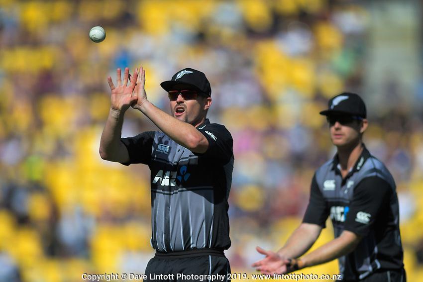 Colin Munro. Twenty20 International cricket match between NZ Black Caps and England at Westpac Stadium in Wellington, New Zealand on Sunday, 3 November 2019. Photo: Dave Lintott / lintottphoto.co.nz