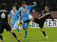 Gonzalo Higuain in action during the Italian Serie A soccer match between SSC Napoli and Parma FC at San Paolo stadium in Naples