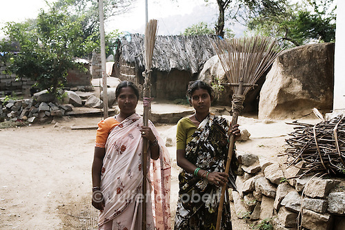 Women in a village near Hampi, Karnataka, India