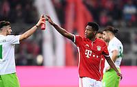Fussball  1. Bundesliga  Saison 2016/2017  14. Spieltag  FC Bayern Muenchen - VfL Wolfsburg    10.12.2016 Schlussjubel; David Alaba (FC Bayern Muenchen)