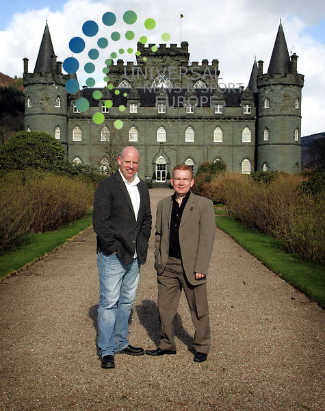 Concerts launch the Connect Music Festival @ Inverary Castle which takes place @ THe end of August Left-Geoff Ellis-CEO of DF Concerts and Colon MacLean-Development Manager HIE Argyll and The Islands .