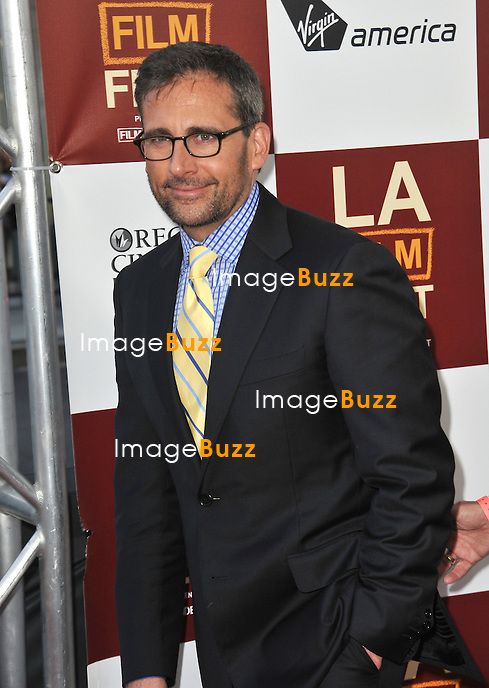 """Steve Carell at the world premiere of his movie """"Seeking a Friend for the End of the World"""" at Regal Cinemas LA Live..June 19, 2012  Los Angeles, CA."""
