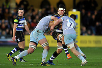 Francois Louw of Bath Rugby takes on the Northampton Saints defence. Aviva Premiership match, between Bath Rugby and Northampton Saints on December 5, 2015 at the Recreation Ground in Bath, England. Photo by: Patrick Khachfe / Onside Images
