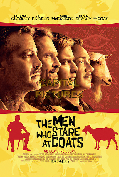 ONE SHEET POSTER ART.in The Men Who Stare at Goats.*Filmstill - Editorial Use Only*.CAP/FB.Supplied by Capital Pictures.