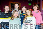 Enjoying the 1st Sliabh Luachra Camogie Club prize night in the Riverisland hotel, Castleisland last Saturday were L-R Ciara Casey, Katie Cotter, Clodagh Delaney, Lauren O'Connor, Bríd Fitzgerald and Sarah Keating.