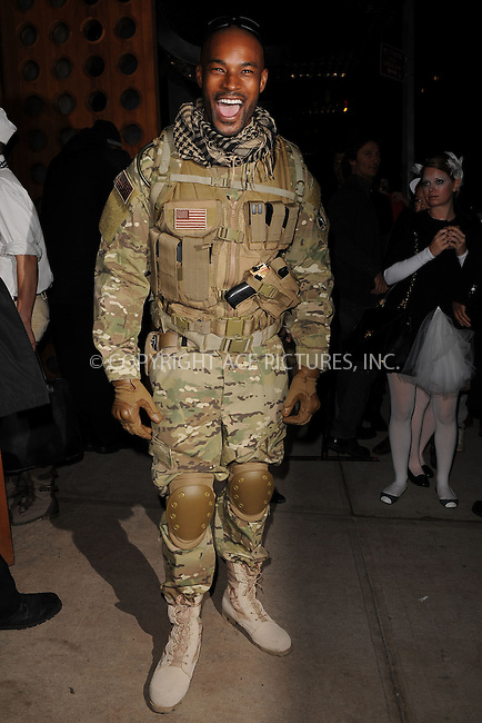 WWW.ACEPIXS.COM . . . . . .October 31, 2011, New York City....Tyson Beckford in costume for Halloween on October 31, 2011 in New York City ....Please byline: KRISTIN CALLAHAN - ACEPIXS.COM.. . . . . . ..Ace Pictures, Inc: ..tel: (212) 243 8787 or (646) 769 0430..e-mail: info@acepixs.com..web: http://www.acepixs.com .