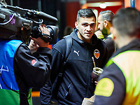 5th November 2019; Mestalla, Valencia, Spain; UEFA Champions League Football,Valencia versus Lille; Maxi Gomez of Valencia CF arrives at Mestalla stadium - Editorial Use