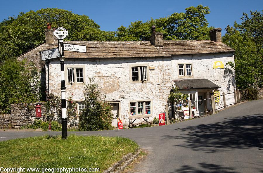 Old village shop in Malham village, Yorkshire Dales national park, England, UK