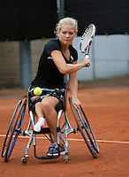 August 6, 2014, Netherlands, Rotterdam, TV Victoria, Tennis, National Junior Championships, NJK, Wheelchair final:  Diede de Groot (NED)<br /> Photo: Tennisimages/Henk Koster