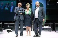 Luigi Angeletti, Susanna Camusso e Raffaele Bonanni<br /> Roma 13/06/2013 Palazzo dei Congressi. XVII Congresso Interfederale della CISL.<br /> Photo Samantha Zucchi Insidefoto
