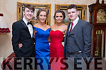 Enjoying the Mercy Mounthawk Debs at Ballyroe Heights Hotel on Tuesday were Cian MacGarry, Eva Lee Christine O'Sullivan and Karl Mullins