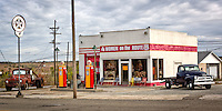 "The Historic Kan-O-Tex service station in Galena Kansas on route 66.  The station has been restored and operated as ""4 Women on the Route"" a sandwich and gift shop featuring route 66 and ""Car's"" items.  The station has changed names and is now known as ""Cars on the Route""."