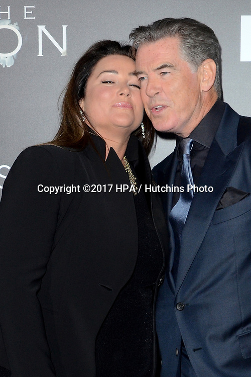 "LOS ANGELES - APR 3:  Keely Shaye Smith, Pierce Brosnan at the AMC's ""The Son"" Season One LA Premiere at ArcLight Theater on April 3, 2017 in Los Angeles, CA"
