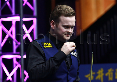 16.03.2014. Haikou, CHINA; Shaun Murphy won his first ranking title in three years by beating Mark Selby 10-6 in the final of the Haikou World Open.