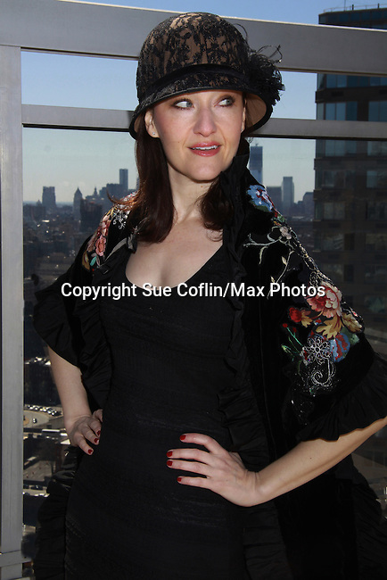 "Melissa van der Schyff -Bonnie & Clyde's ""Blanche"" at Promo shoot for the annual Broadway Extravaganza in honor of Jane Elissa's Candidacy for Leukemia & Lymphoma Society Woman of the Year and for Hats for Health on April 23, 2012 at the Marriott Marquis Hotel, New York City, New York. In the shoot are Days of Our Lives Louise Sorel ""Vivian"", Broadway Bonnie and Clyde's Melissa VanDer Schyff and Clay Elder, Dale Badway (Creator Fame-Wall) and host for the upcoming event, Corey Brunish (producer of Bonnie & Clyde) and Billy Freda, singer songwriter Missy Modell (Photo by Sue Coflin/Max Photos)"