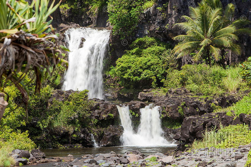 Waterfalls at Seven Sacred Pools, 'Ohe'o gulch, Haleakala National Park, Maui