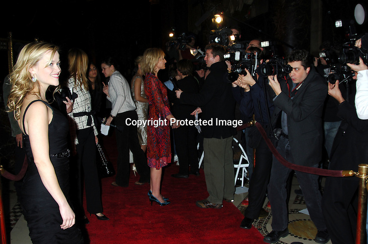 Reese Witherspoon ..at the 2005 New York Film Critics Circle 71st Annual Awards Dinner on January 8, 2006 at Ciprianis 42nd Street...Photo by Robin Platzer, Twin Images