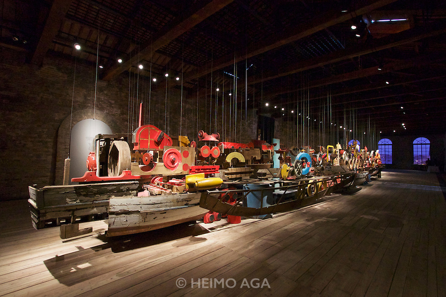 Venice, Italy - 15th Architecture Biennale 2016, &quot;Reporting from the Front&quot;.<br /> Arsenale.<br /> Darzan&agrave;: Two Arsenals, One Vessel