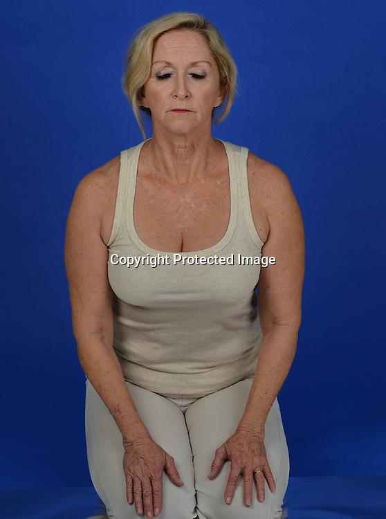 Stock photo geriatric yoga health