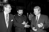 FILE -   Le relationiste de Presse David Novek , le journaliste Tommy Schnurmacher et le Maire de Montreal Jean Dore.<br /> <br /> Ouverture du FFM le 25 aout 1994<br /> <br /> PHOTO : Agence Quebec Presse