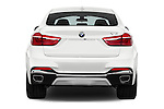 Straight rear view of 2018 BMW X6 sDrive35i 5 Door SUV Rear View  stock images